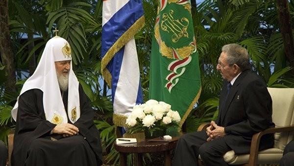 Патриарх Кирилл встретился с председателем Госсовета Кубы Раулем Кастро
