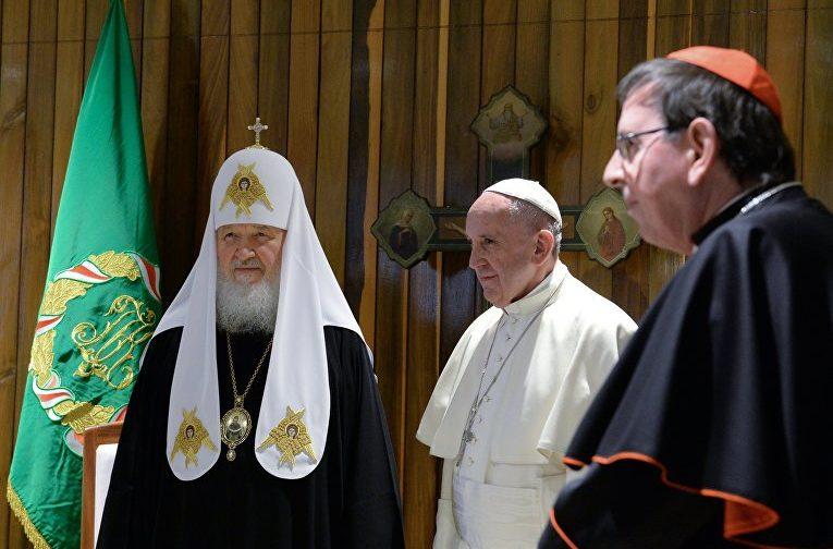 Патриарх Кирилл: Сегодня две Церкви могут активно и совместно работать, чтобы не было войны