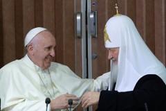Папа Франциск назвал встречу с Патриархом Кириллом откровенным разговором между братьями