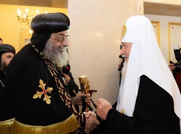 Встреча Святейшего Патриарха Кирилла с Патриархом Коптской Церкви Феодором II. Фото: patriarchia.ru