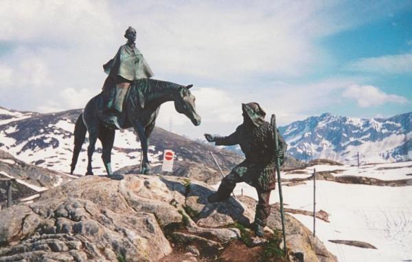 Памятник А.Суворову. Перевал Сен-Готард, Швейцария, 1998