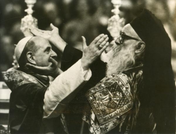 Встреча Патриарха Афинагора и Римского папы Павла VI в Иерусалиме в январе 1964 год
