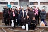 Церковь в феврале отправила жителям Донецкой области шесть тонн продуктов