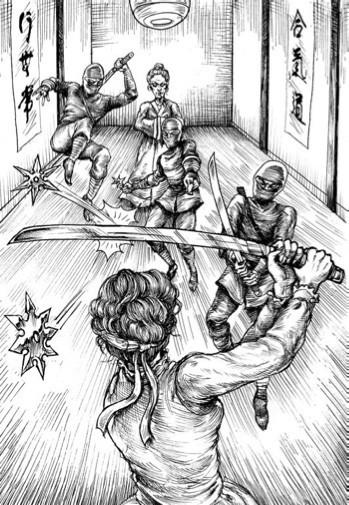 Иллюстрация из книги Грэма-Смита «Гордость и предубеждение и зомби»