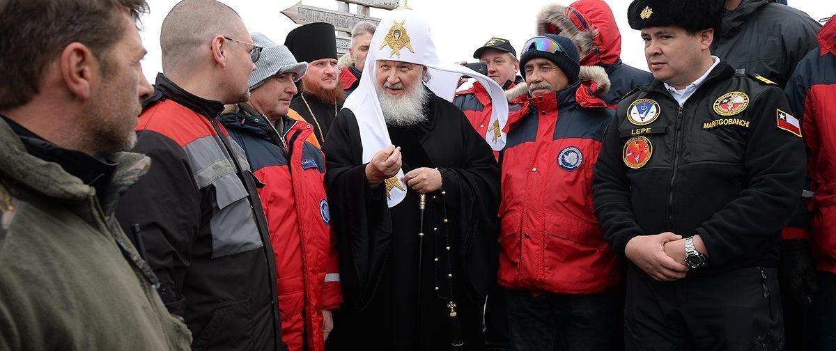 Патриарх помолился вместе с полярниками (+фото, видео)