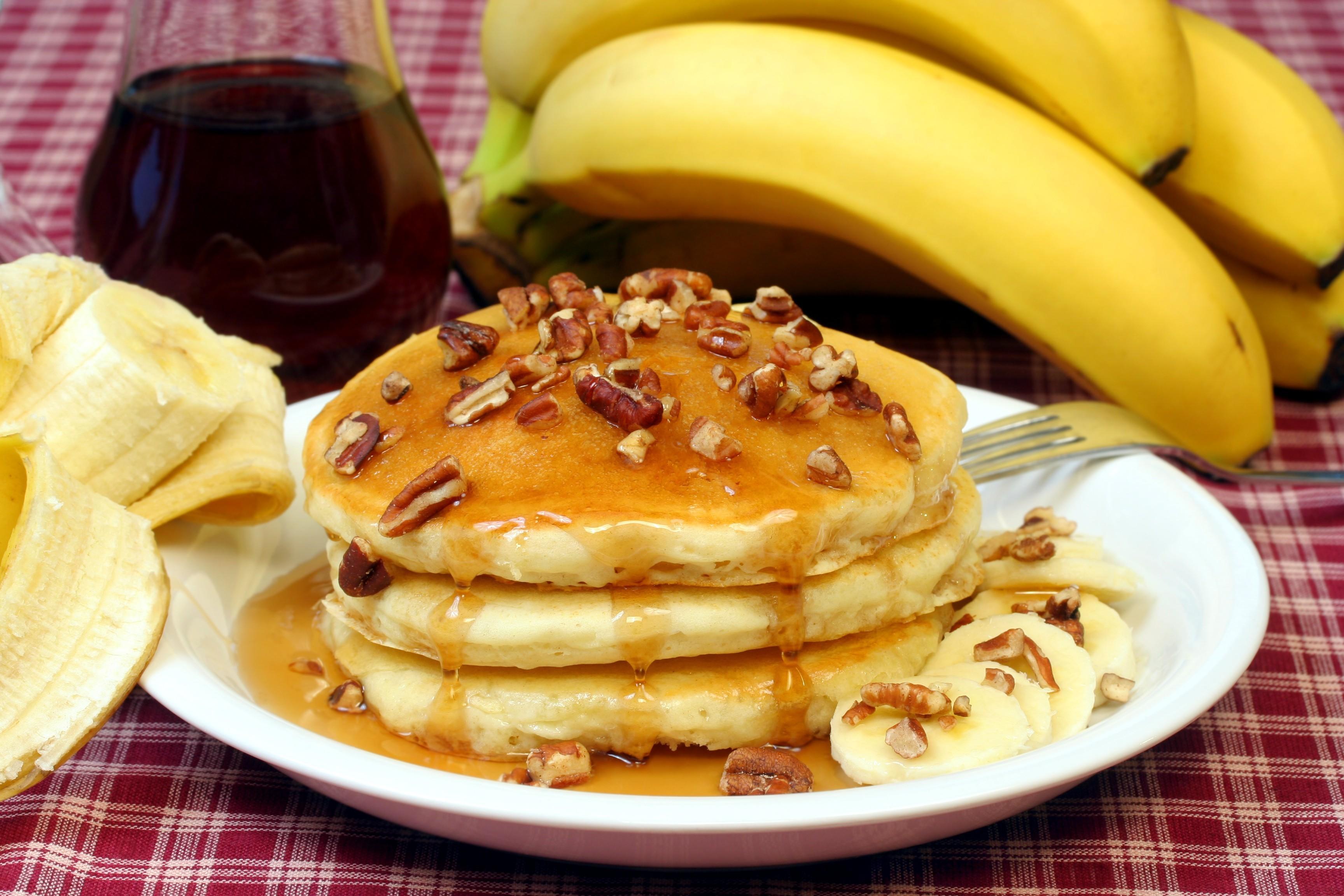 Постные блины с бананом рецепт