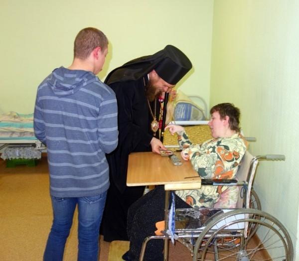 Поздравление с Пасхой в детском доме для инвалидов
