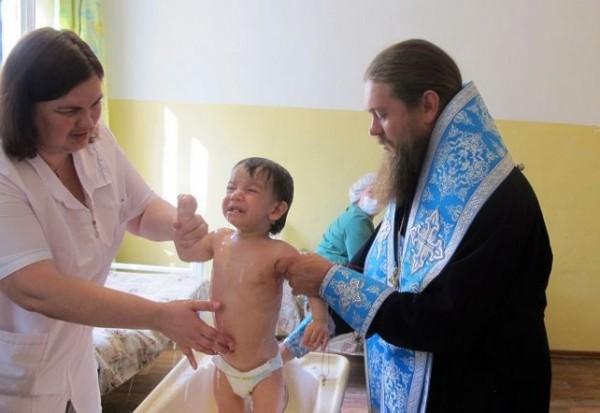 Крещение детей в закрытом туберкулезном санатории