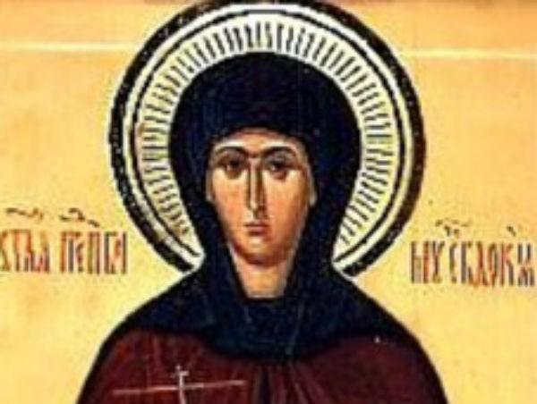 Церковь чтит память преподобномученицы Евдокии
