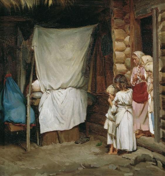 """К. В. Лемох """"Новый член семьи"""". 1880-е"""