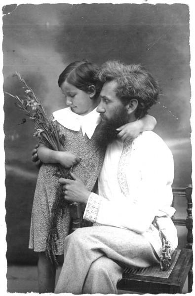 С отцом - Павлом Фидлером