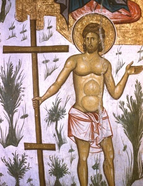 Благоразумный разбойник. Фреска монастыря Высокие Дечаны, Косово