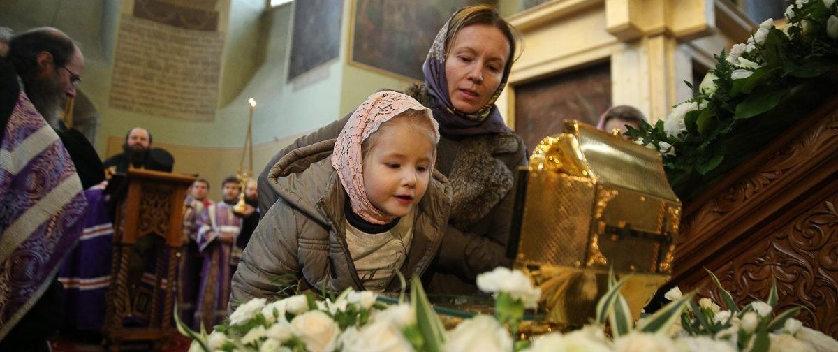 Мощи святителя Луки в Донском монастыре (фото)