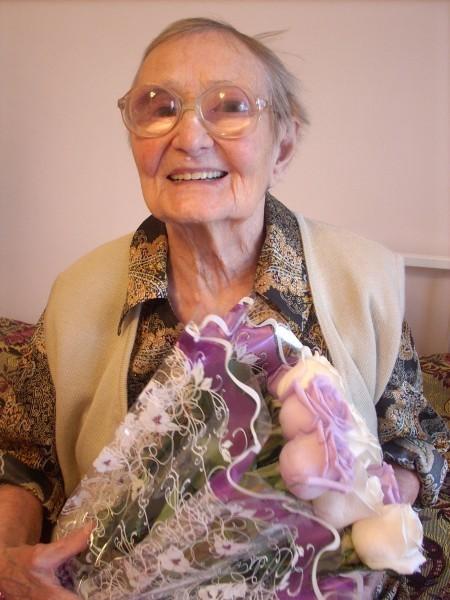 Фото Любови Александровны в день ее 100-летия