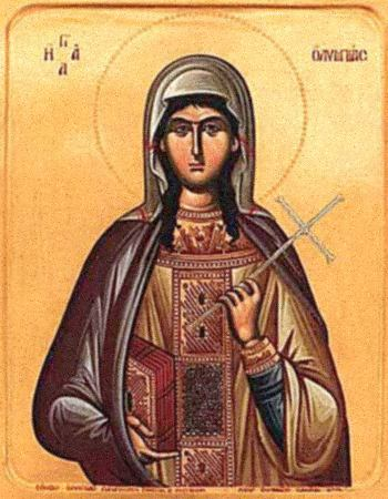 Святая Олимпиада Константинопольская, диакониса