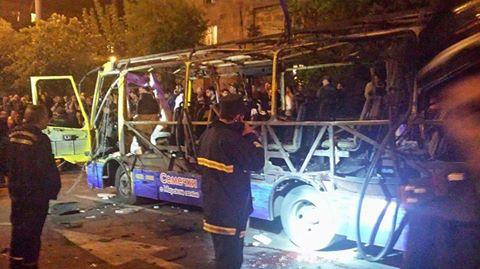 Полиция Армении: В ереванском автобусе сработала бомба
