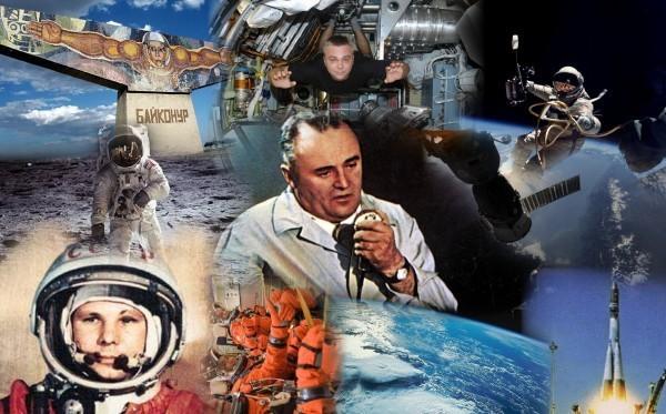 Картинки по запросу коллаж о полёте человека в космос
