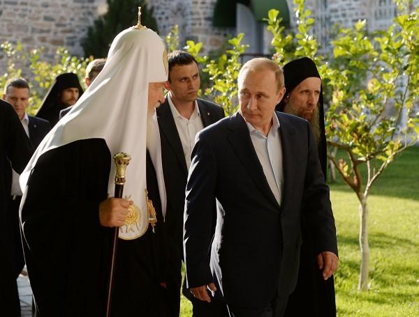 Владимир Путин и Патриарх Кирилл на Святой горе Афон (фоторепортаж)