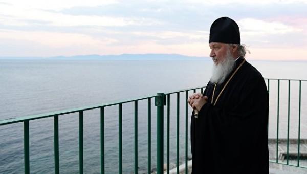 Патриарх Кирилл освятил храм на Афоне