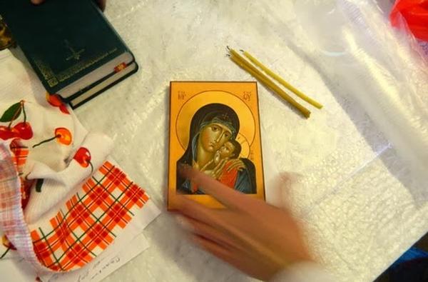 Икона – работа одного из пациентов ИКБ-2. Фото: miloserdie.ru