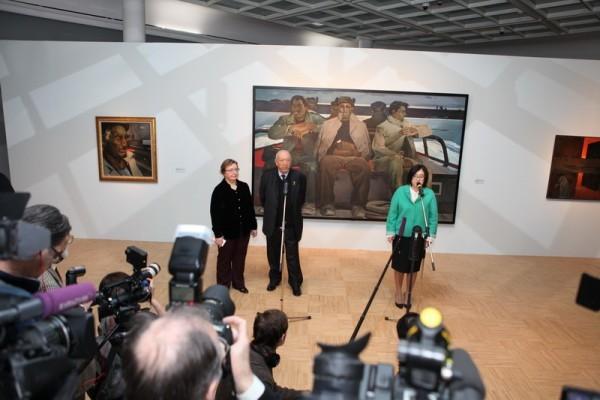 Открытие выставки «Таир Салахов. Солнце в зените» Фото: Н.Шихлы/azj.rus4all.ru