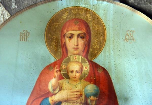 В пожаре на Валаааме чудом сохранилась бумажная копия Валаамского Образа Божией Матери
