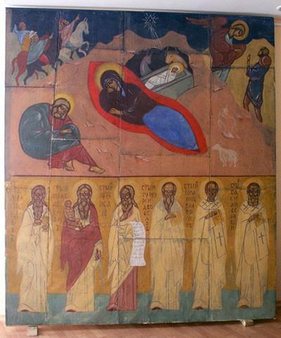 Фреска Ю.Н. Рейтлингер «Рождество Христово» из храма Св. Иоанна Воина. Франция. Медон. 1932 г.