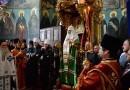 Патриарх Кирилл совершил молебен в афонском Свято-Пантелеимоновом монастыре