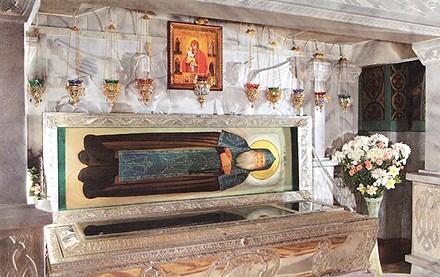 рака с мощами преподобного Амфилохия Почаевского