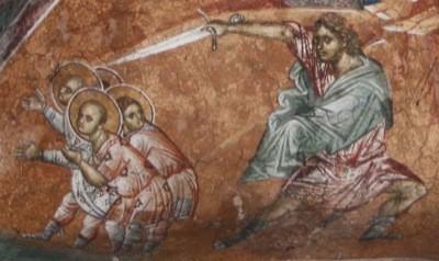 Церковь чтит память святых мучеников Лукиллиана и четырех отроков