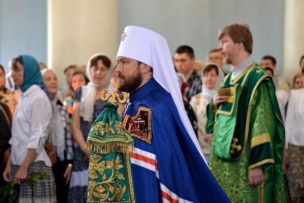 Митрополит Иларион: Святой Дух дает возможность нашей Церкви осуществлять миссию, превышающую человеческие силы