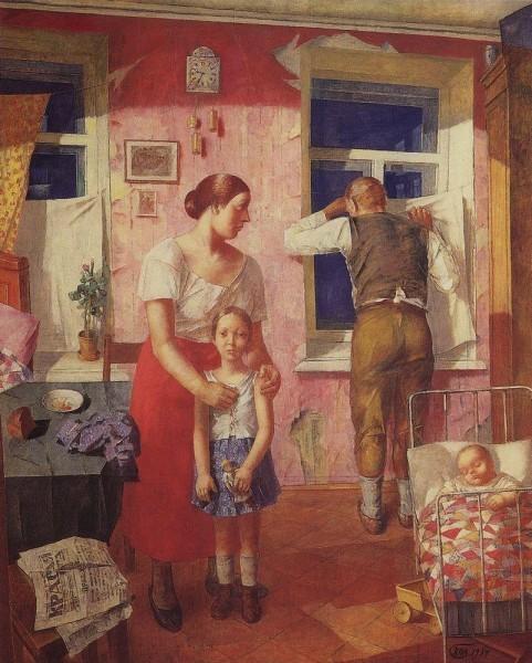 К.С. Петров-Водкин «1919 год. Тревога», 1934 год