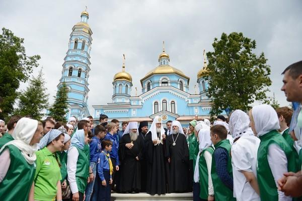 Предстоятель Русской Церкви освятил кафедральный собор Рождества Пресвятой Богородицы в Уфе