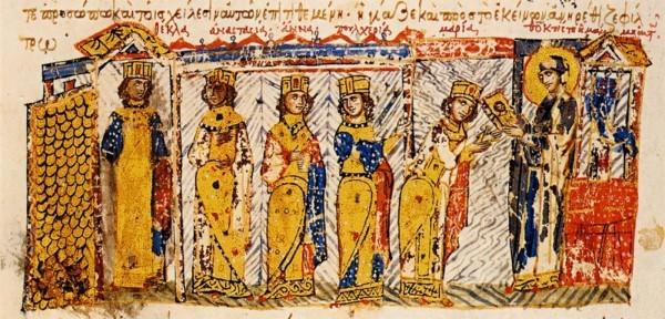 Миниатюра из мадридского кодекса «Хроники» Иоанна Скилицы. XII–XIII века. Фото с сайта arzamas.academy