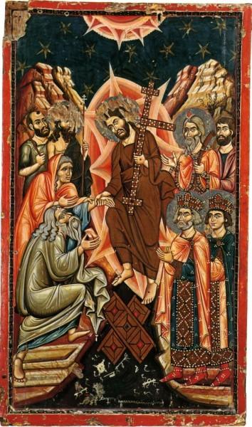 Воскресение Христово. Икона XIII в. Синай |alexandrtrofimov.ru