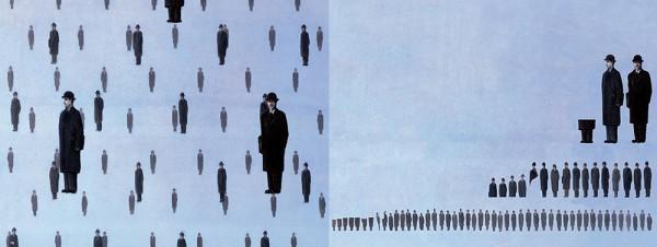 """Фото: Урсус Верли """"Уборка в искусстве"""". Картина «Голконда» Рене Магритт/surfingbird.ru"""