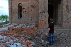 Строящийся Иверский храм Горловки пострадал от обстрела