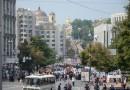 Более 80 тысяч верующих приняли участие в крестном ходе по центральным улицам Киева