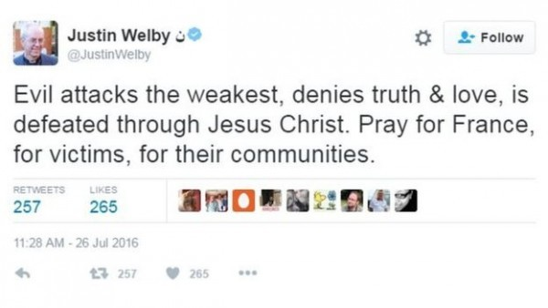 @JustinWelby/Twitter