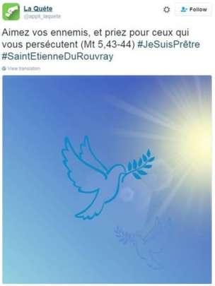 Эта картинка была опубликована с цитатой из Библии: «Любите врагов ваших и молитесь за тех, кто преследует вас» (Мф. 5:43-44).
