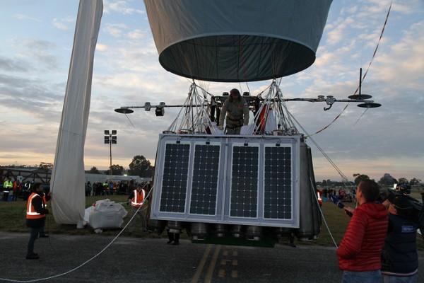 Федор Конюхов отправился в кругосветный полет на воздушном шаре