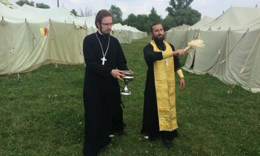 В Дивееве открыли палаточный городок для паломников