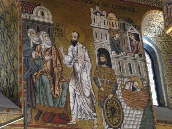 Капелла Норманнского дворца в Палермо. Апостол Павел