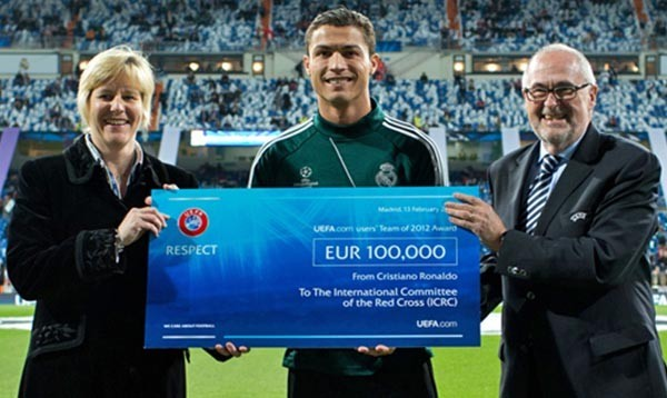 «добрые люди» Ronaldo-donation-to-ICRC-600x358
