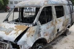 Под Волгоградом военнослужащие спасли семью с инвалидом из горящей «ГАЗели»