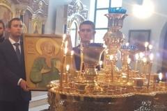 Тактильная икона Матроны Московской для незрячих появилась в храме Богоявления в Химках