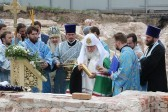 Патриарх Кирилл заложил собор на месте обретения Казанской иконы Божией Матери