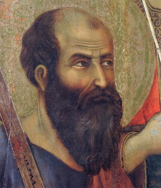 Дуччо ди Буонинсенья. Маэста (фрагмент) . Апостол Павел