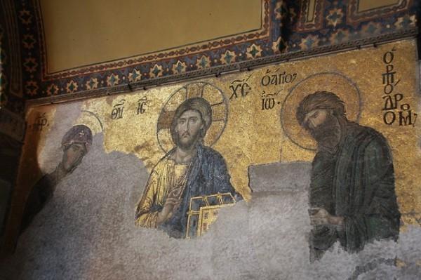 Фреска в Соборе Святой Софии (Турция)