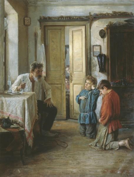 """Михаил Ватутин. """"Воспитатель"""". 1892, холст, масло."""